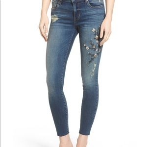 STS Blue Embroidered Skinny Jeans